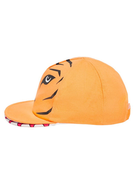 Name it Mini Boy Orange Tiger Cap with Mouth SIDE