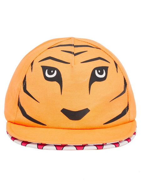 Name it Mini Boy Orange Tiger Cap with Mouth FRONT
