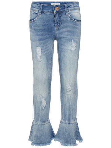 Name it Girls Blue Flared Jeans FRONT