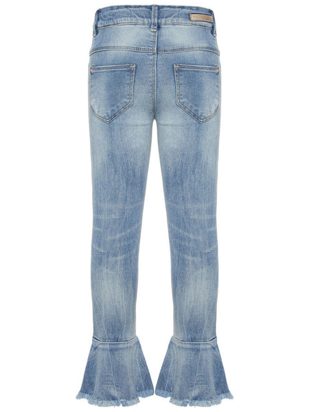 Name it Girls Blue Flared Jeans BACK