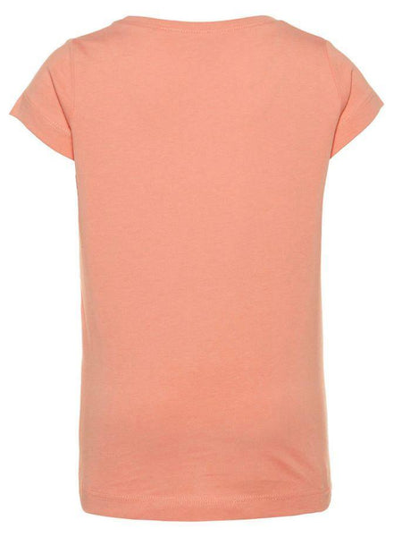 Name it Mini Girl T-Shirt with Colourful Strawberry Print in Pink BACK