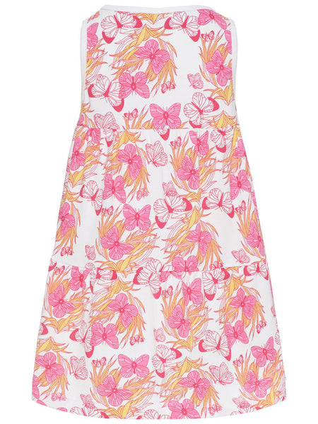 Name it Mini Girl Sleeveless Dress with Butterfly Print BACK