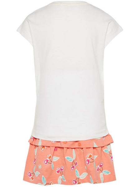Name it Girls Two Pack T-Shirt & Skirt Set in WHITE BACK