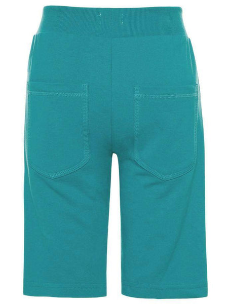 Name it Mini Boy Solid Coloured Long Summer Sweat Shorts LAKE BLUE BACK