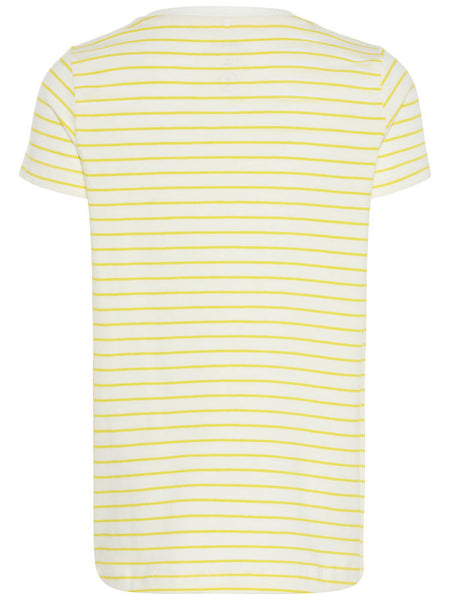 Name it Mini Girl Yellow Striped T-Shirt BACK