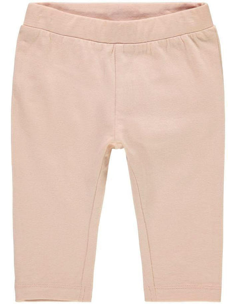 Name it Baby Girl Organic Cotton Solid Pink Leggings with Bow Detail on Back FRONT
