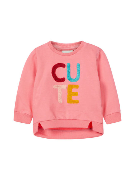 Name it Baby Girl CUTE Organic Cotton Pink Sweat Shirt FRONT