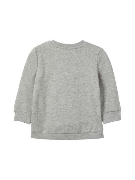 Name it Baby Girl CUTE Organic Cotton Sweat Shirt in Grey BACK