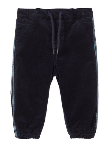 Name it Baby Boy Cotton Cord Trousers in Navy