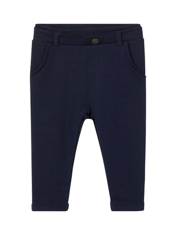 Name it Baby Boy Organic Cotton Sweat Pants in Navy