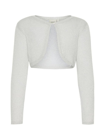 Name it Girls Long Sleeved White Knitted Bolero FRONT