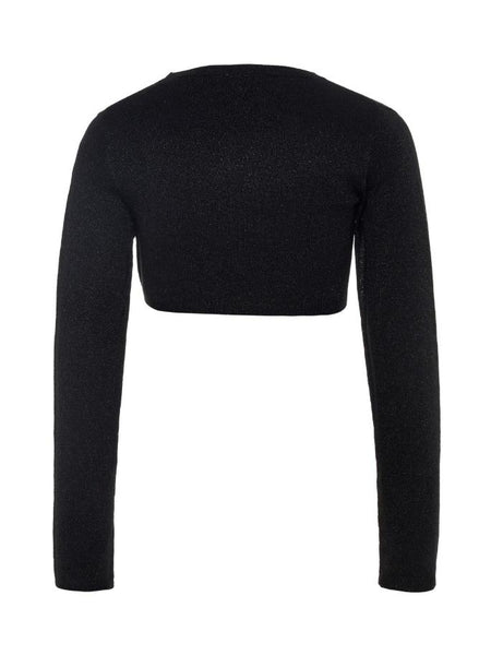 Name it Girls Long Sleeved Black Knitted Bolero BACK