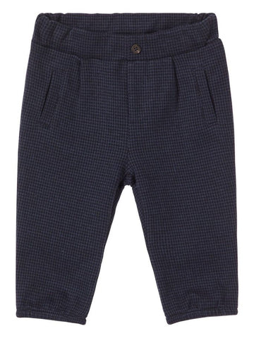 Name it Baby Boy Navy & Grey Check Pants