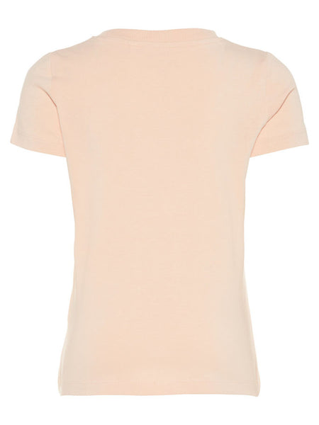 Name it Mini Girl Organic Cotton T-Shirt with Glittery Fruit Print PEACHY KEEN BACK