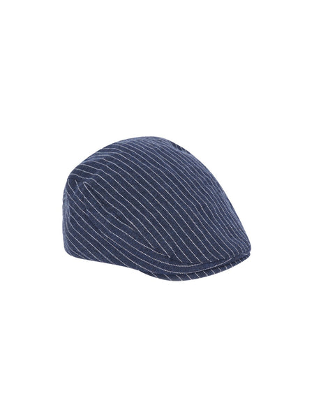 Name it Mini Boy Cotton Flat Cap in Navy FRONT SIDE
