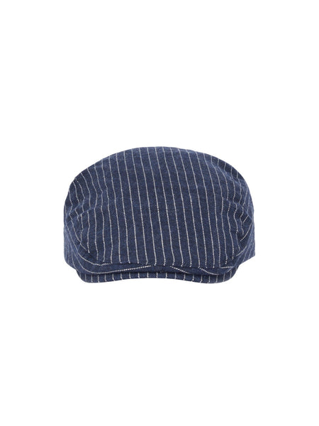 Name it Mini Boy Cotton Flat Cap in Navy FRONT
