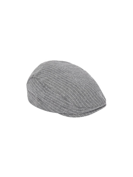 Name it Mini Boy Cotton Flat Cap in Grey FRONT SIDE