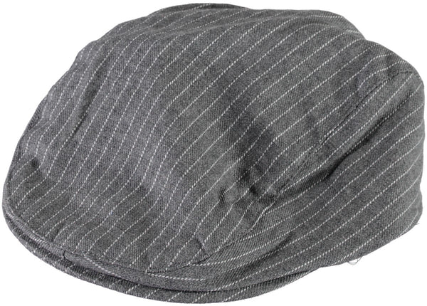 Name it Mini Boy Cotton Flat Cap in Grey CLOSE UP FRONT