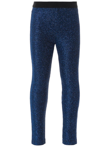 Name it Mini Girl Glitter Leggings in Navy FRONT