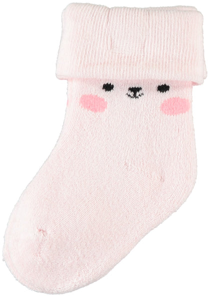 Name it Baby Girl Socks with Bear Face