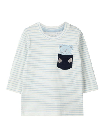Name it Baby Boy Stripy Teddy Bear Long Sleeve Top
