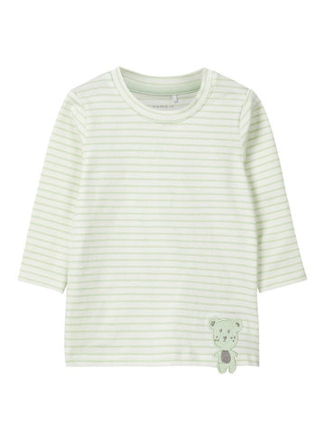 Name it Baby Boy Stripy Teddy Bear Top