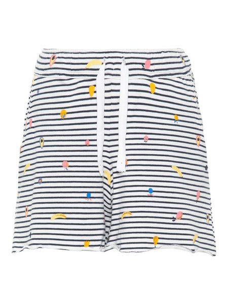 Name it girls striped cotton shorts