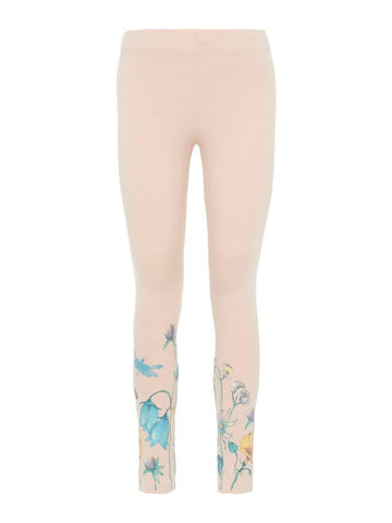 Name it Mini Girl Glittery Floral Print Leggings