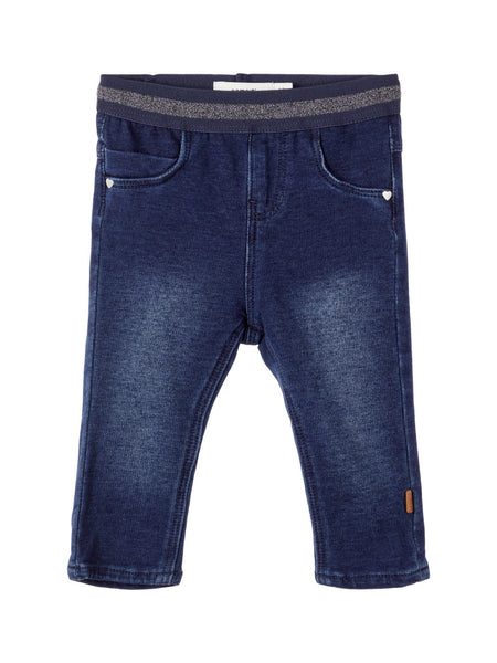 Baby Girl Sweat Denim Leggings