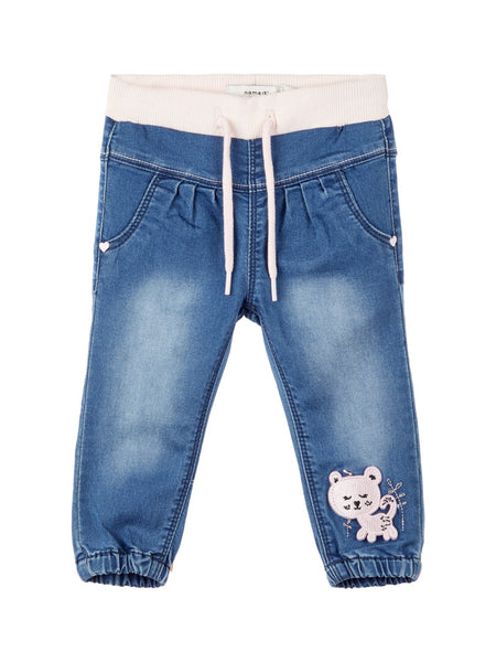 Name it Baby Girl Soft Denim Kitten Jeans