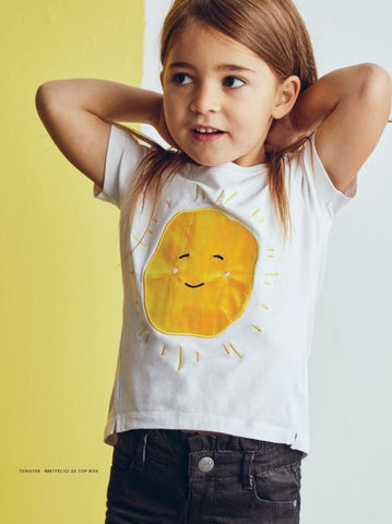 Name it Mini Girl Sunshine Applique T-Shirt