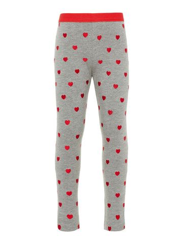 Name it Mini Girl Cotton Sweat Heart Leggings