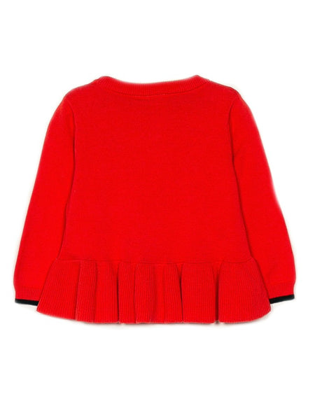 Name it Mini Girl Red Knitted Heart Jumper