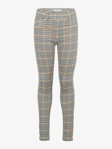 Name it Girls Skinny Checked Twill Pants