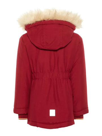 Name it Mini Girl Red Parka Coat