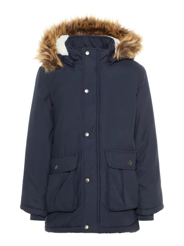 Name it Boys Navy Parka Jacket