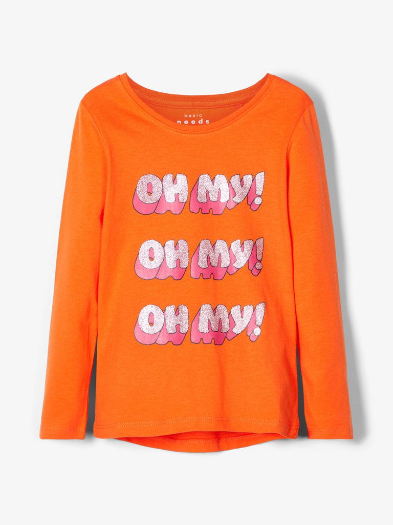 Name it Mini Girl Long Sleeve Graphic Print Top