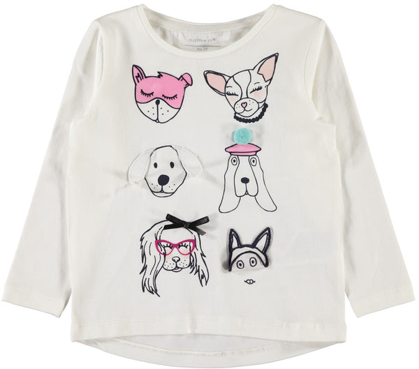 Name it Mini Girl Long Sleeved Puppy Top