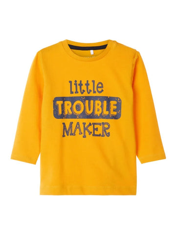 "Baby Boy ""Little Trouble Maker"" Long Sleeve Top"