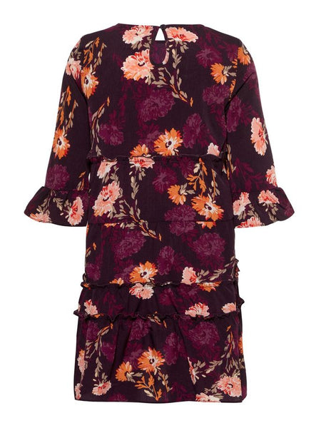 Name it Girls Floral Polyester Dress with 3/4 Length Sleeves