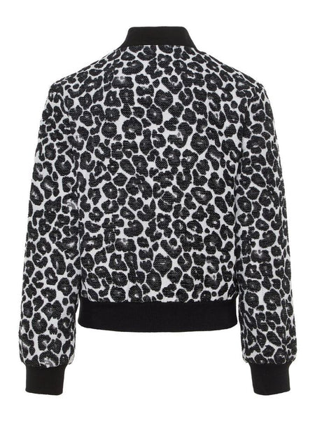 Name it Girls Black Leopard Print Bomber Jacket