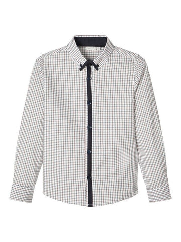 Name it Boys Cotton Check Long Sleeved Shirt