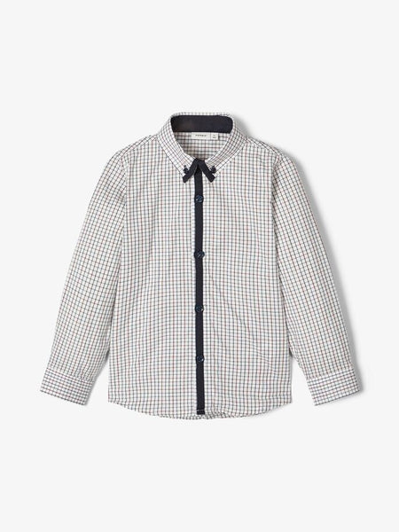 Name it Mini Boy Cotton Long Sleeved Checked Shirt