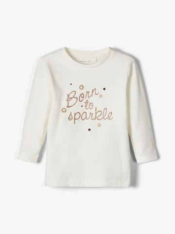 Name it Baby Girl Long Sleeved Glitter Star Top