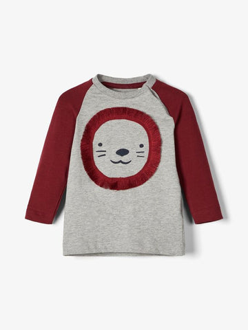 Baby Boy Long Sleeved Lion Top