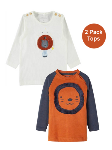 Baby Boy 2-Pack Long Sleeved Lion Tops