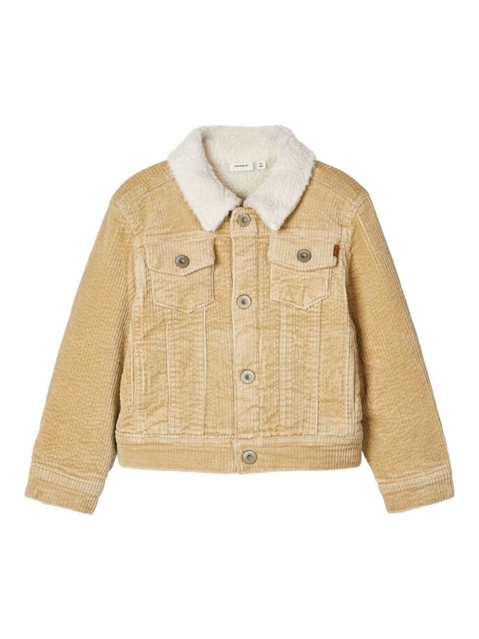 Name it Mini Boy Cord Jacket with Teddy Lining