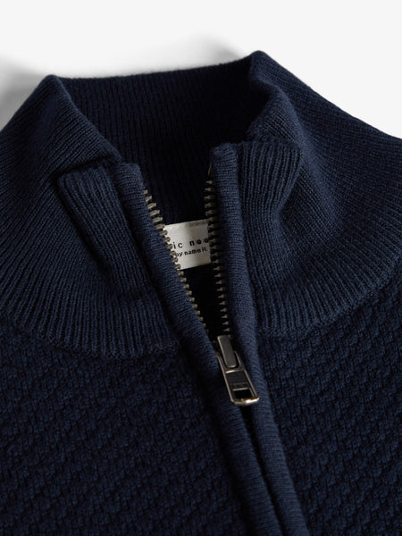 Name it Boys Zip-Up Knit Cardigan