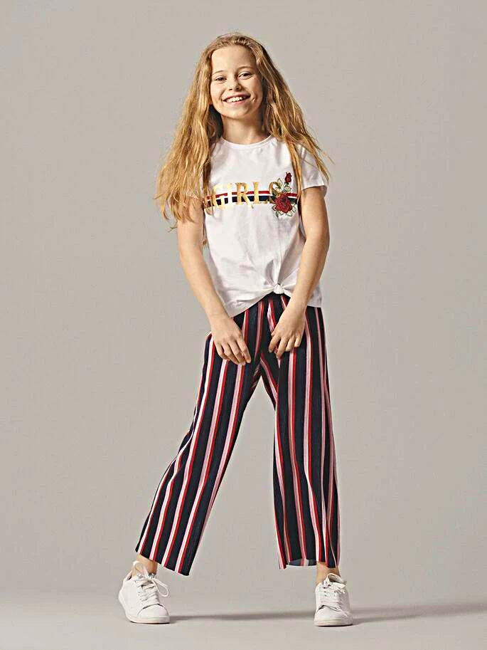 Name it Girls Stripey Palazzo Pants