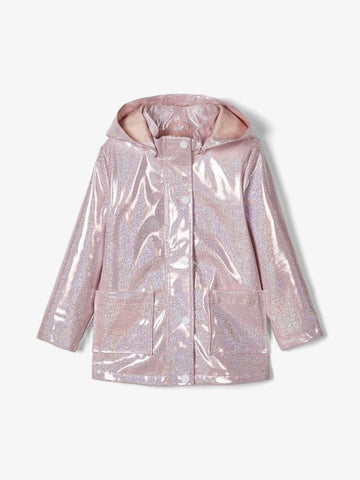 Name it Toddler Girls Pink Sparkle Raincoat